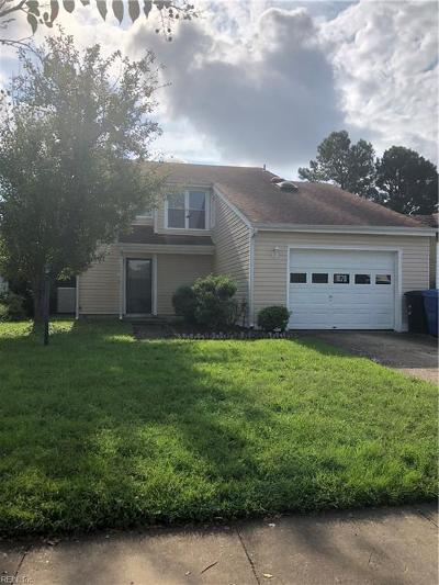 Virginia Beach VA Single Family Home New Listing: $225,000