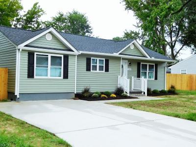 Virginia Beach VA Single Family Home New Listing: $254,900