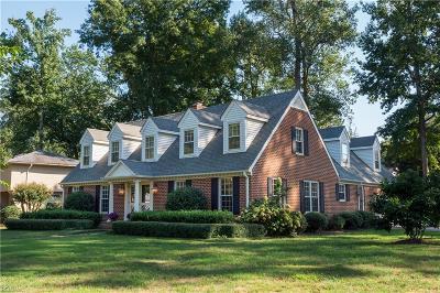 Virginia Beach Single Family Home For Sale: 937 Windsor Rd
