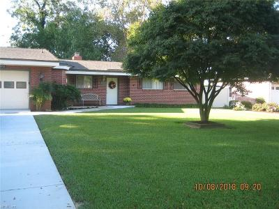 Norfolk Single Family Home For Sale: 5955 McGinnis Cir