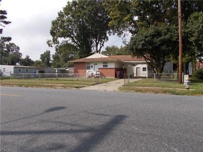 Chesapeake Single Family Home New Listing: 2501 Border Rd