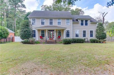 Portsmouth Single Family Home For Sale: 3424 Cedar Ln