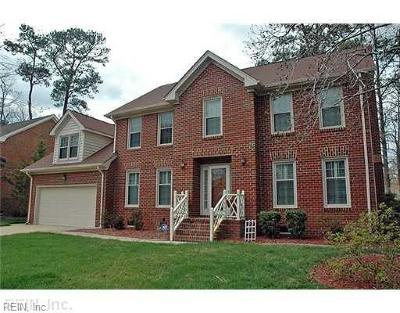 Virginia Beach Single Family Home New Listing: 1709 Grey Friars Chse