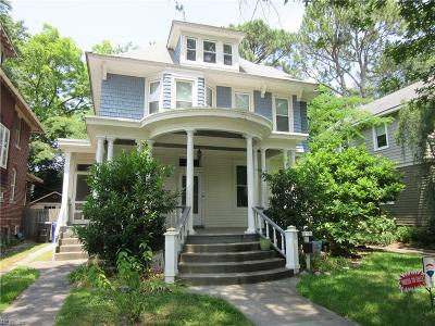 Norfolk Single Family Home New Listing: 212 E 39th St
