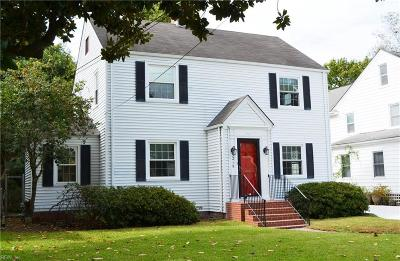 Norfolk Single Family Home New Listing: 5215 Powhatan Ave