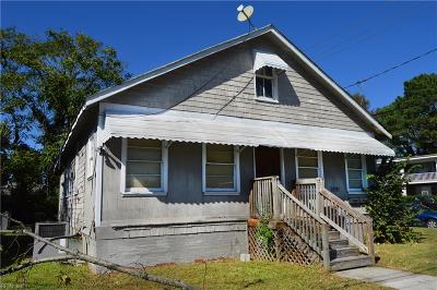 Norfolk Multi Family Home Under Contract: 9291 1st View St
