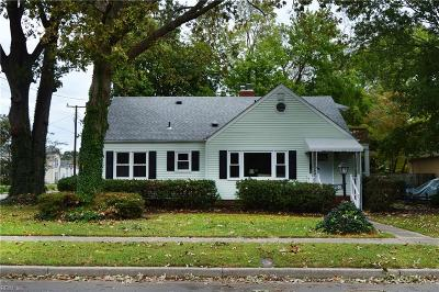 Norfolk Single Family Home New Listing: 1200 Modoc Ave
