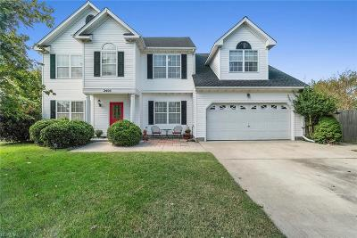 Virginia Beach Single Family Home New Listing: 2405 Cliff Cutter Dr