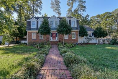 Chesapeake Single Family Home New Listing: 3925 Point Elizabeth Dr