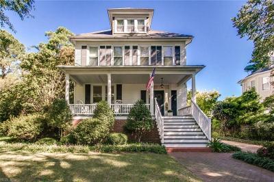 Norfolk Single Family Home New Listing: 1314 Buckingham Ave