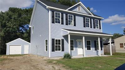 Chesapeake Single Family Home New Listing: 2519 Pringle Dr