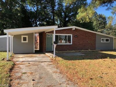 Virginia Beach Single Family Home New Listing: 1021 Emporia Ave