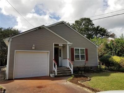 Chesapeake Single Family Home New Listing: 1311 Laurel Ave