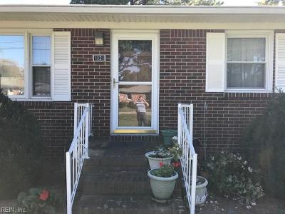 Chesapeake Single Family Home New Listing: 1024 Valmire Dr