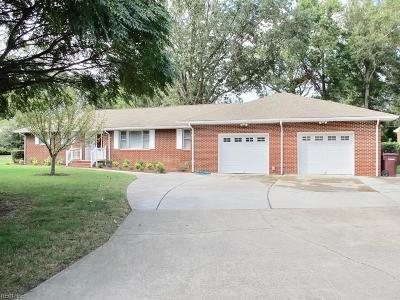 Chesapeake Single Family Home New Listing: 212 Gibson Dr