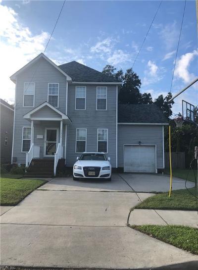 Norfolk VA Single Family Home New Listing: $210,000