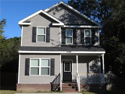 Chesapeake Single Family Home New Listing: 5108 James St