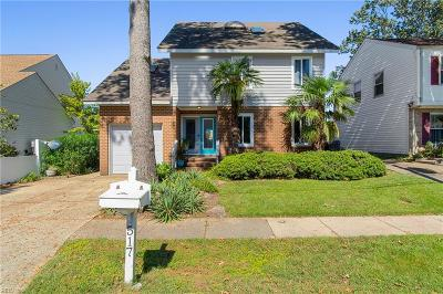 Virginia Beach Single Family Home New Listing: 517 Lake Dr