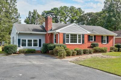 Western Branch Single Family Home For Sale: 3029 Tyre Neck Rd