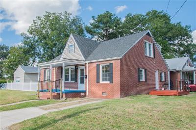 Norfolk VA Single Family Home New Listing: $229,900