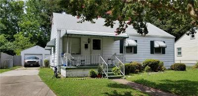 Norfolk VA Single Family Home New Listing: $105,000