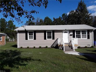 Norfolk VA Single Family Home New Listing: $159,900
