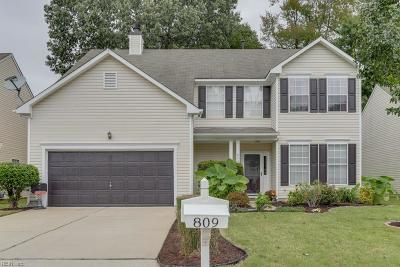 Newport News Single Family Home New Listing: 809 Wyemouth Dr