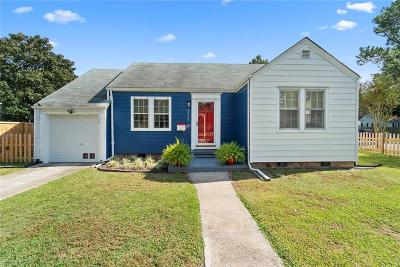 Norfolk Single Family Home New Listing: 8834 Granby St