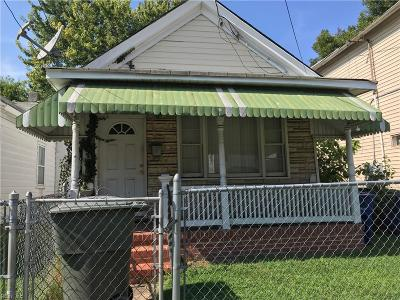 Newport News Single Family Home New Listing: 1113 30th St