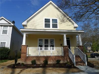 Norfolk Single Family Home New Listing: 3241 Lyons Ave