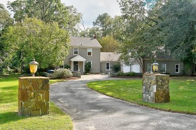 Virginia Beach Single Family Home New Listing: 3181 Adam Keeling Rd