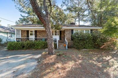 Virginia Beach Single Family Home New Listing: 2220 Oak St