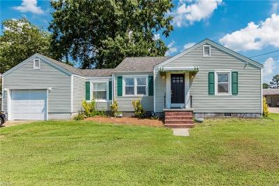 Chesapeake Single Family Home New Listing: 1224 Lilac Ave