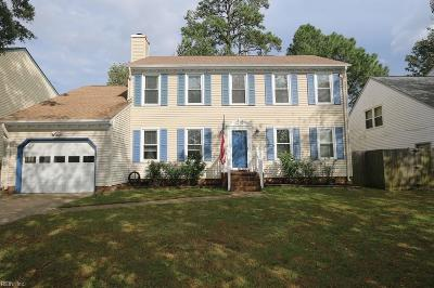 Virginia Beach Single Family Home New Listing: 2452 Piney Bark Dr