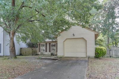Chesapeake Single Family Home New Listing: 1215 Welles Ct