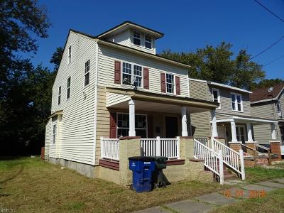 Norfolk Single Family Home New Listing: 2417 Ruffin St