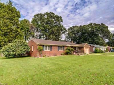 Chesapeake Single Family Home New Listing: 4008 Birchwood Ave