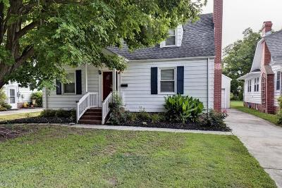 Hampton Single Family Home New Listing: 138 Hampton Roads Ave