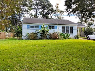 Norfolk VA Single Family Home New Listing: $125,000