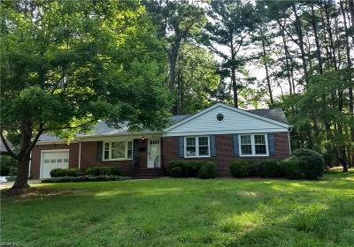 Newport News Single Family Home New Listing: 312 Corbin Dr