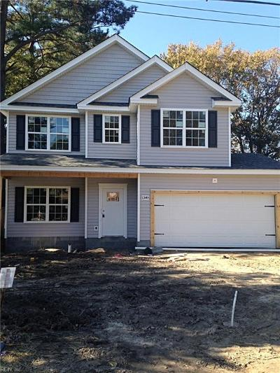 Chesapeake Single Family Home New Listing: 1349 Linden Ave