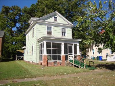 Suffolk Single Family Home New Listing: 409 Bosley Ave