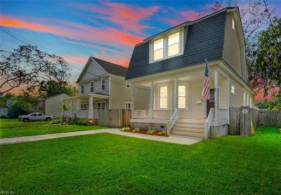 Norfolk Single Family Home New Listing: 3405 Lens Ave