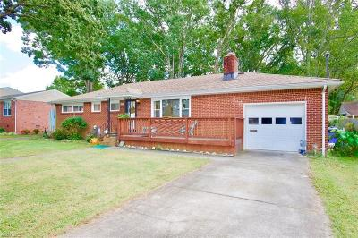 Norfolk VA Single Family Home New Listing: $209,000