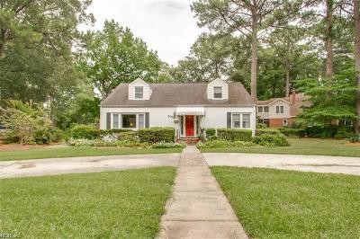 Norfolk VA Single Family Home New Listing: $379,500