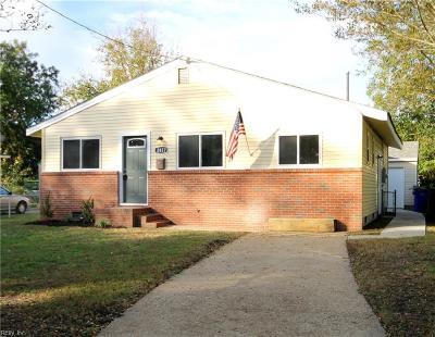 Norfolk VA Single Family Home New Listing: $174,900