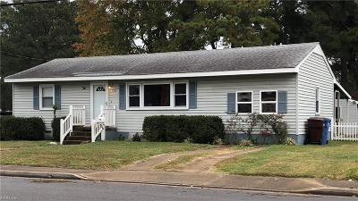Chesapeake Single Family Home New Listing: 703 Sparrow Rd