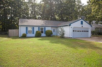 Newport News Single Family Home New Listing: 454 Michael Irvin Dr