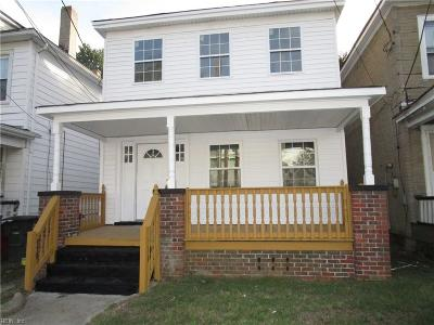 Norfolk Single Family Home New Listing: 973 Rugby St