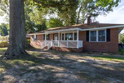 Portsmouth Single Family Home New Listing: 1300 Hodges Ferry Rd